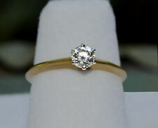 Classic TIFFANY & Co Solitaire Diamond ENGAGEMENT RING Plat 18K size 5.5 .31ctw
