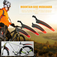 2x MTB Bicycle Splash Fender Guard Rear Front Mudguard for 20-26 inch Bike AU