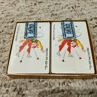 Vintage 2 Deck Set of Playing Cards, New in Cellophane w/ IRS Tax Stamps