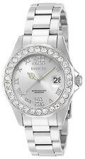 Invicta Women's Pro Diver Quartz 3 Hand Silver Dial Watch 15251