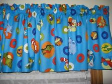 "DR.SEUSS CAT IN THE HAT CURTAIN VALANCE NEW 42""W X 14""L NEW PRINT!"