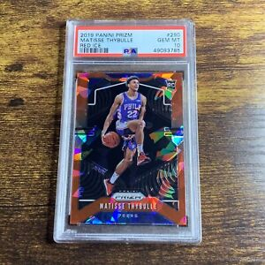 2019-20 Prizm Matisse Thybulle Red Ice Psa 10 Gem Mint Rookie RC 76ers