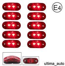 10 X 12V SMD 2 ROUGE LED côté arrière Indicateur Feu CAMION REMORQUE norme E
