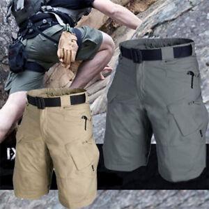 Mens Cargo Combat Shorts Casual Work Wear 100% Cotton Cargo Half Pants Outdoor