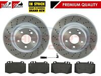 FOR MERCEDES S-CLASS 320 W220 320 CDI FRONT MEYLE DRILLED BRAKE DISCS BRAKE PADS