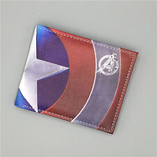 Comics Marvel Wallet Captain America Famous Cartoon Leather Male carteras mujer