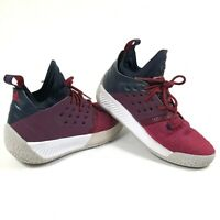 Adidas Mens Boys 6.5 Bounce James Harden Vol. 2 Basketball Shoes Red Maroon