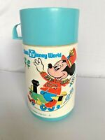 Walt Disney World Aladdin Thermos Vintage Mickey Mouse Magic Kingdom Both Lids