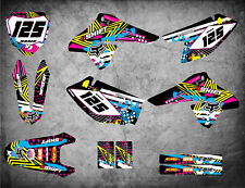 Custom Graphics Full Kit to Fit Suzuki DRZ 125 2008 - 2018 PINNED STYLE stickers