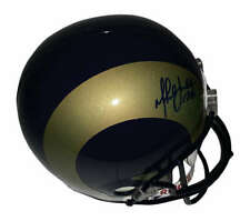 Marshall Faulk Signed Rams Full Size Replica Helmet Beckett BAS
