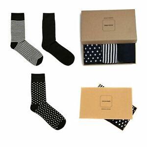Jack & Jones Mens Gift Set 3 Pack Smart Work Cotton Casual Socks Present 1 Size