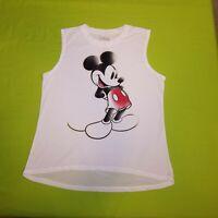 Disney Mickey Mouse Women's Tank XL Distressed Mickey