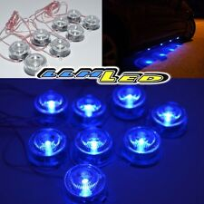 WATERPROOF BLUE 8 LED UNDERCAR DECORATIVE LAMP LIGHT FOR CARS TRUCKS SUV