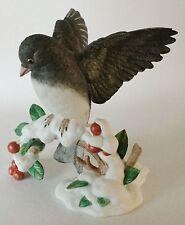 LENOX Porcelain DARK EYED JUNCO 1991 - GARDEN BIRDS Figurine