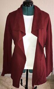 NWT Medium Lucky Brand Red Shibuya Wrap French Terry Sweatshirt Jingo Jacket