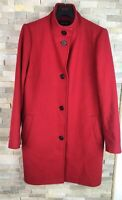 Jaeger Ladies Size 14 Red Wool Overcoat Soft Shell Jacket Coat