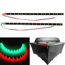 "2x12"" Red&Green LED Navigation Strip Light Waterproof Car Auto Marine Boat 12v"