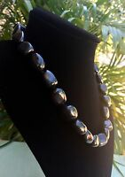 Elite Shungite Necklace Noble Shungite Tumbled Nugget Necklace Chain Karelia.