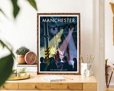 Manchester Hacienda Club Vintage Travel Poster, Modern Wall Art Print