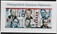 US Scott #4076, Souvenir Sheet 2006 American Diplomats VF MNH