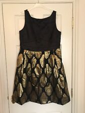Oasis Black & Gold Dress - Christmas/Party/Wedding/Races - Size 16 BNWT