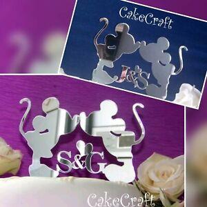 Mickey&Minnie Disney Acrylic Initials Wedding/Engagement cake topper decorations