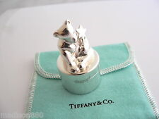 Tooth Pill Box Case Container Rare Tiffany & Co Silver Bear Fairy