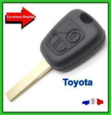 Coque Télécommande Plip Clé Bouton Toyota Aygo + Lame Avec Rainure