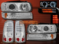 1999-2000 CHEVY SILVERADO HALO PROJECTOR HEADLIGHTS+ LED BUMPER+LED TAIL LIGHTS