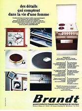PUBLICITE  1974   BRANDT    cuisinière gazinière