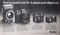 PUBLICITÉ 1970 LE ROLLEI SLX 66 SEUL UN GRAND NOM DE LA PHOTO PEUT ALIGNER CA