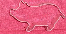 "Pig,Swine,Pork,Hog Cookie Cutter,Farm, C/K,Metal,3.75"", Farm Amimal,Pink"