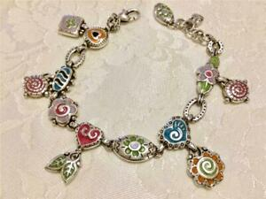 Brighton Multi Color Bracelet 6 Charms