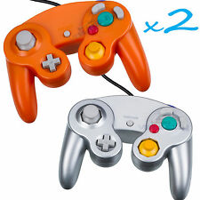 Brand New Controller for Nintendo GameCube or Wii -- Orange and Silver