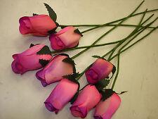 80 pc. Wood Roses Flowers Wholesale Fundraisers Bulk Floral Pink / Purple #13