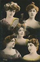 Five Young Women Reutlinger Postcard