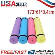 Yoga Mat Thick Non-slip Durable Exercise Extra Mats Pilates Pad Fitness Gym 4MM
