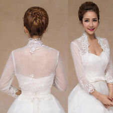 Lace Wedding Dress Bridal Scarf Shawl Shrug Wraps Jacket Cape Bolero Stole Tulle