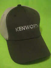 KENWORTH HAT:   BLACK /  GREY / SPORT MESH TRUCKER'S CAP  *FREE SHIPPING *