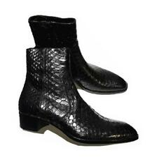 Occident Mens Snakeskin Real Leather Chelsea Boots Shoes Pointy Toe Runway New L