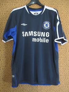 Maillot vintage Chelsea Umbro Bleu Samsung Mobile Jersey football - S