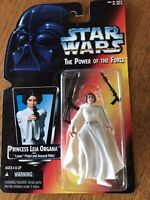 1995 Princess Leia Organa STAR WARS Power of the Force Red Card Mint With Guns