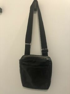 Longchamp Men's Black Leather Shoulder Crossbody Bag