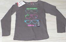 835 - T-shirt ML 8 ans gris fantaisie ORCHESTRA DAZZLING neuf avec étiquettes