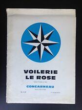 Ancien catalogue de produits Voilerie Le Rose Concarneau BON ETAT