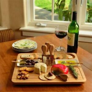 NIB Picnic at Ascot Sherborne Charcuterie Bread Cheese Spreader Set Board Wood