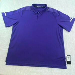ADIDAS Coach 3-Button Polo - Men's Size 2XL - Purple - Vented - New With Tags