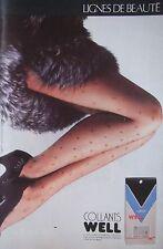 PUBLICITÉ 1990 COLLANTS WELL MIKADO - ADVERTISING