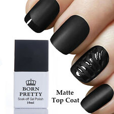 10ml Born Pretty Nail No Wipe Matte Top Coat Gel Polish Nail Art Soak Off UV Gel