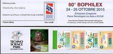 2015 Libretto Ricordo 60° Bofilex Congiunta Italia-San Marino 100 pezzi
